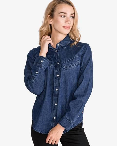 Modrá košeľa na patentky LEVI'S