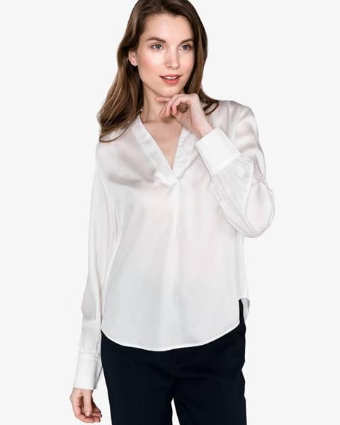 Biela košeľa s dlhým rukávom Selected