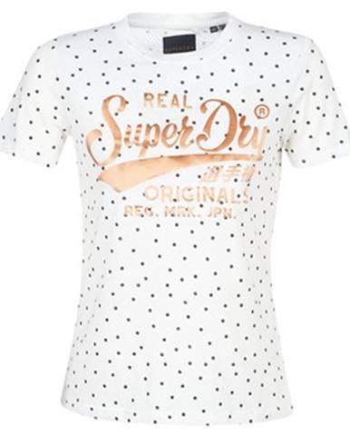 Biele tričko Superdry