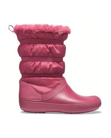 Ružové zimná obuv Crocs