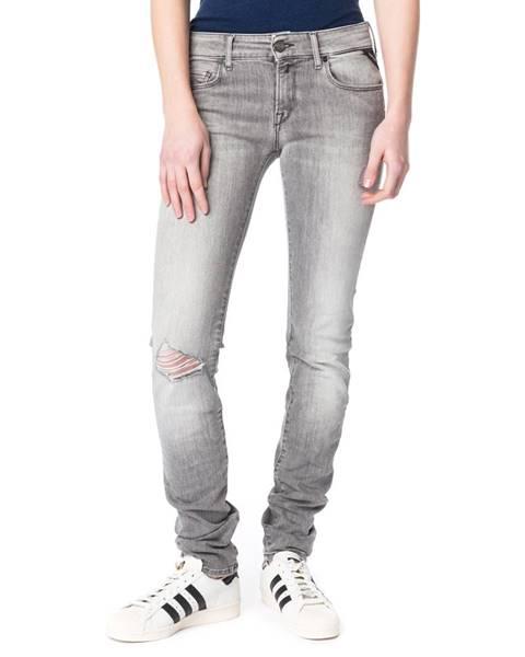 Sivé skinny nohavice Replay