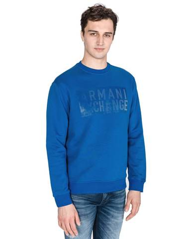 Modrá bunda bez kapucne Armani Exchange
