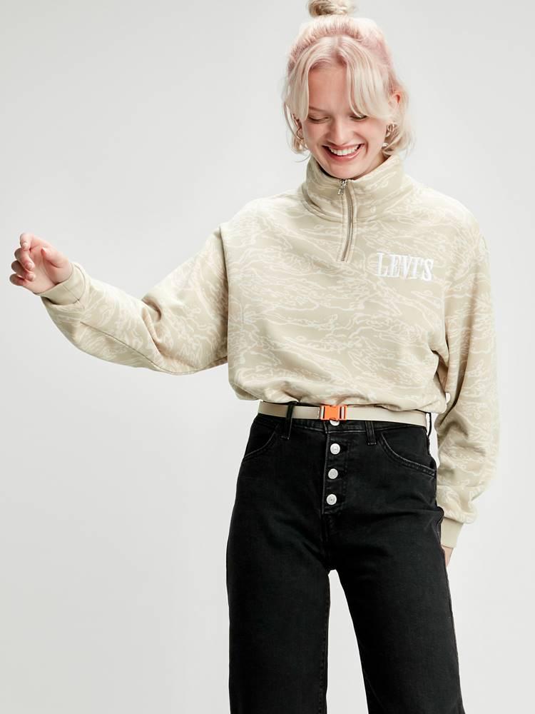 Levi's Mikina Levi's® Logo Sweatshirt Logo Sweatshirt Water C Biela