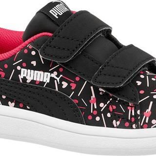 Puma - Čierne tenisky na suchý zips Puma Smash Confetti