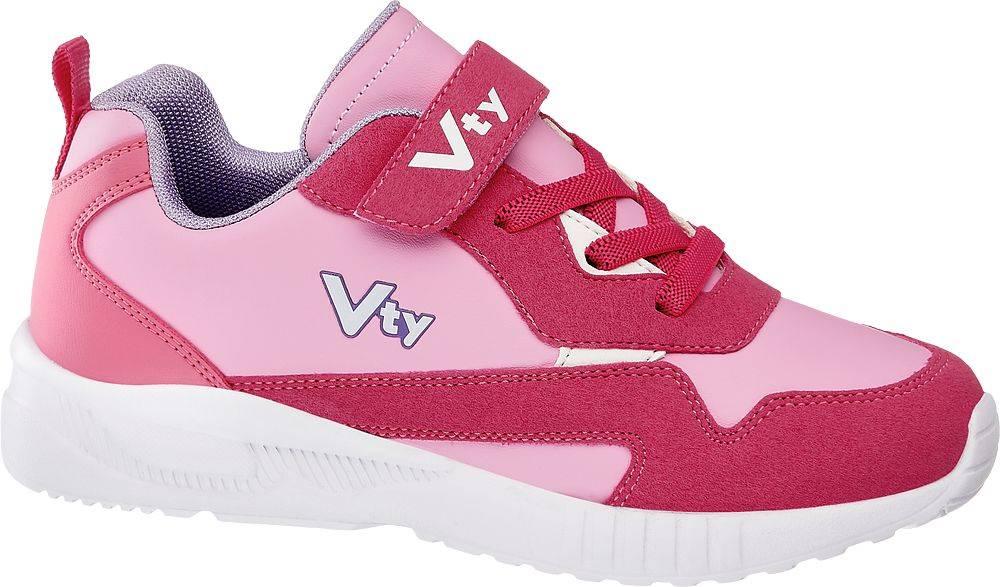 Vty Vty - Ružové tenisky na suchý zips Vty