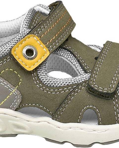 Kaki sandále Bobbi-Shoes