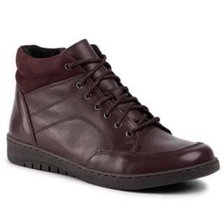 Šnurovacia obuv GO SOFT WI20-KOMETA-01 koža(useň) zamšová,koža(useň) lícová