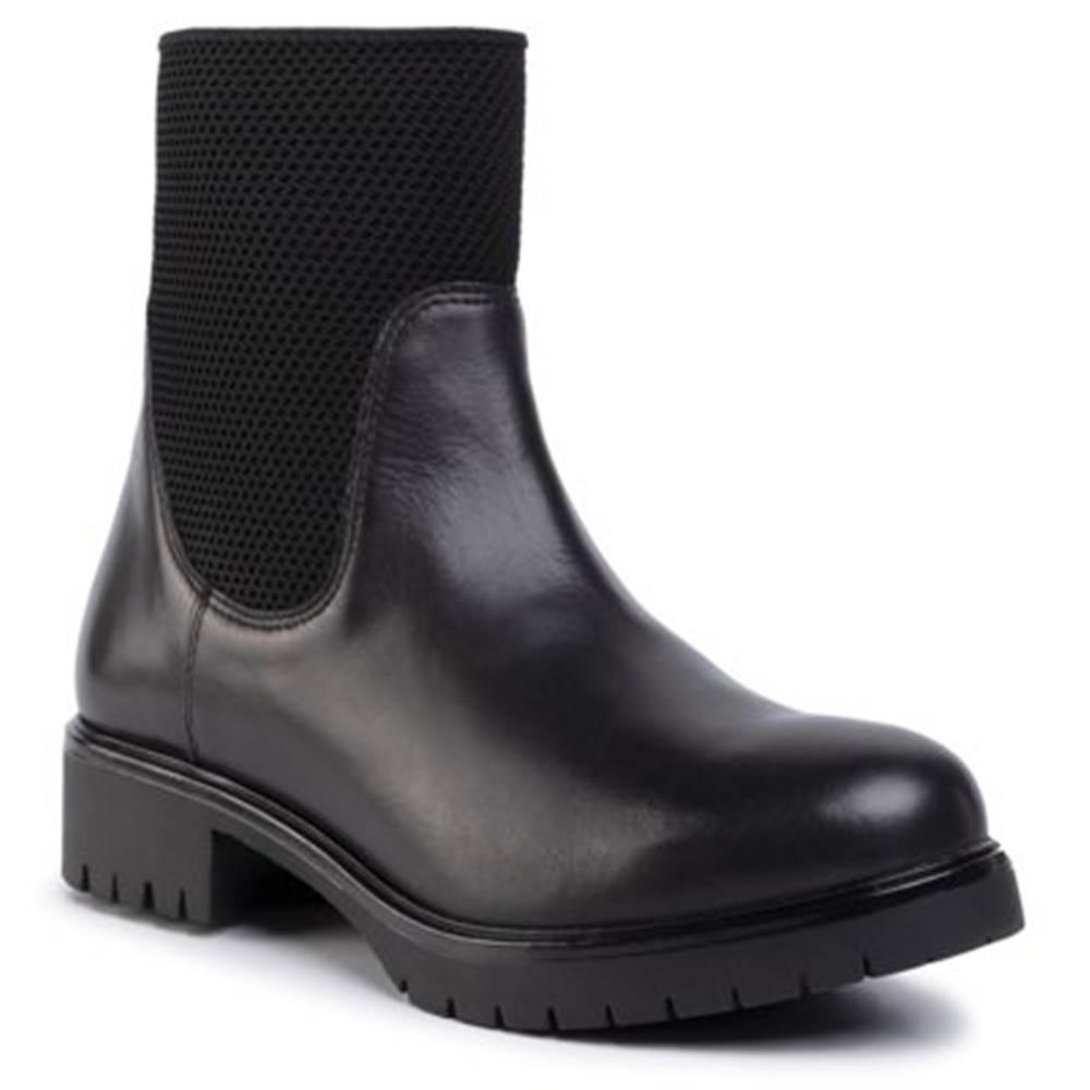 Členkové topánky Gino Rossi RST-DSI573 Materiał tekstylny,koža(useň) lícová