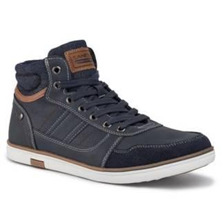 Šnurovacia obuv Lanetti MP07-16996-10 Materiał tekstylny,koža ekologická