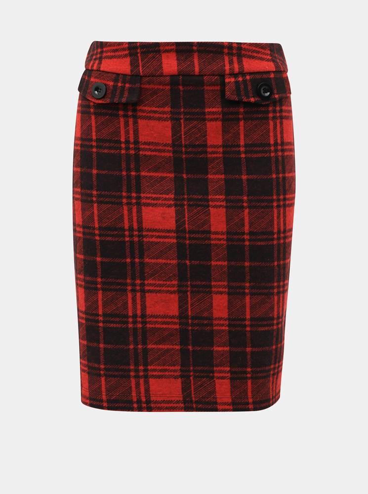 M&Co Červená kockovaná sukňa M&Co