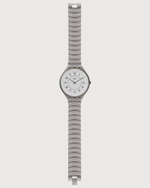 Sivé hodinky Swatch