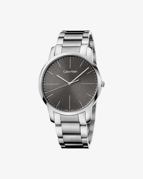 Sivé hodinky Calvin Klein