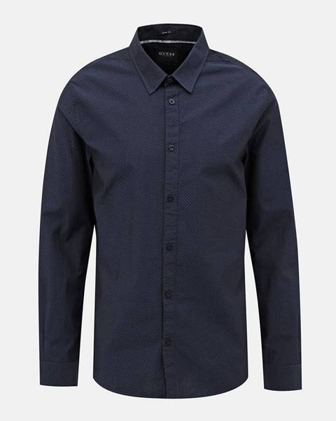 Tmavomodrá košeľa Guess
