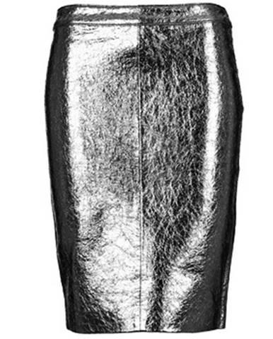 Strieborná sukňa American Retro
