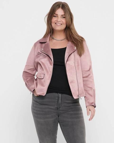 Ružová bunda ONLY CARMAKOMA