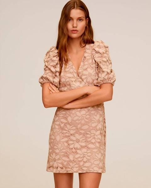 Béžové šaty Mango