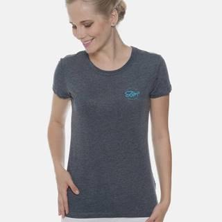 Tmavomodré dámske tričko s potlačou SAM 73