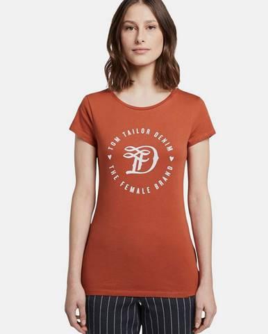 Tehlové tričko Tom Tailor Denim