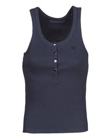 Modré tričko Guess