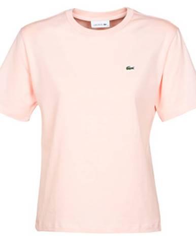 Ružové tričko Lacoste