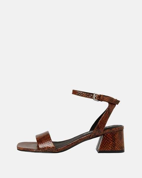 Hnedé sandále Vero Moda