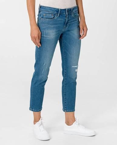 Modré boyfriend nohavice Pepe jeans