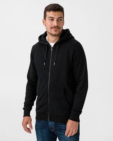 Čierna bunda s kapucňou Pepe jeans