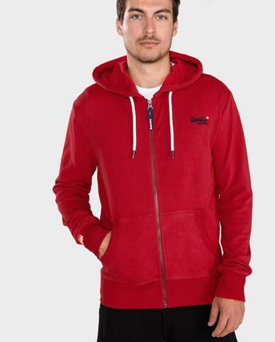 Červená bunda s kapucňou Superdry