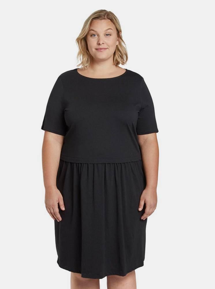 my true me tom tailor Čierne dámske šaty My True Me Tom Tailor