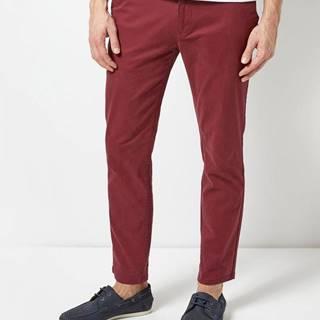 Vínové skinny fit chino nohavice Burton Menswear London