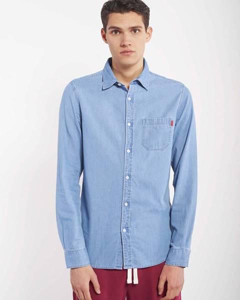 Modrá košeľa Alcott