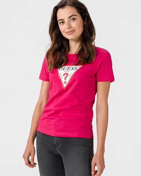 Ružové tričko Guess