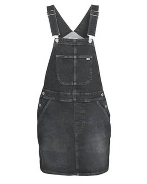 Čierne minišaty Tommy Jeans