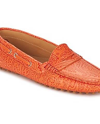 Oranžové mokasíny Etro