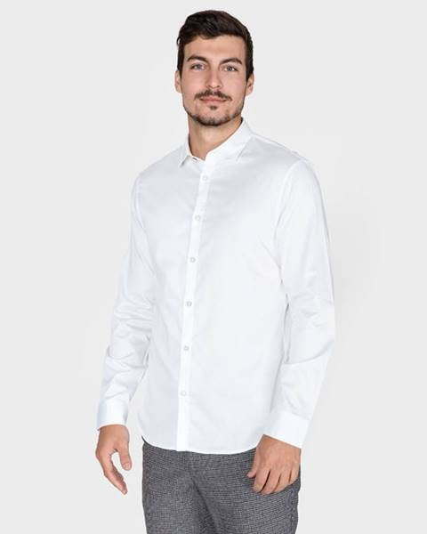 Biela košeľa Armani Exchange