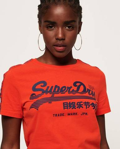 Oranžové tričko Superdry