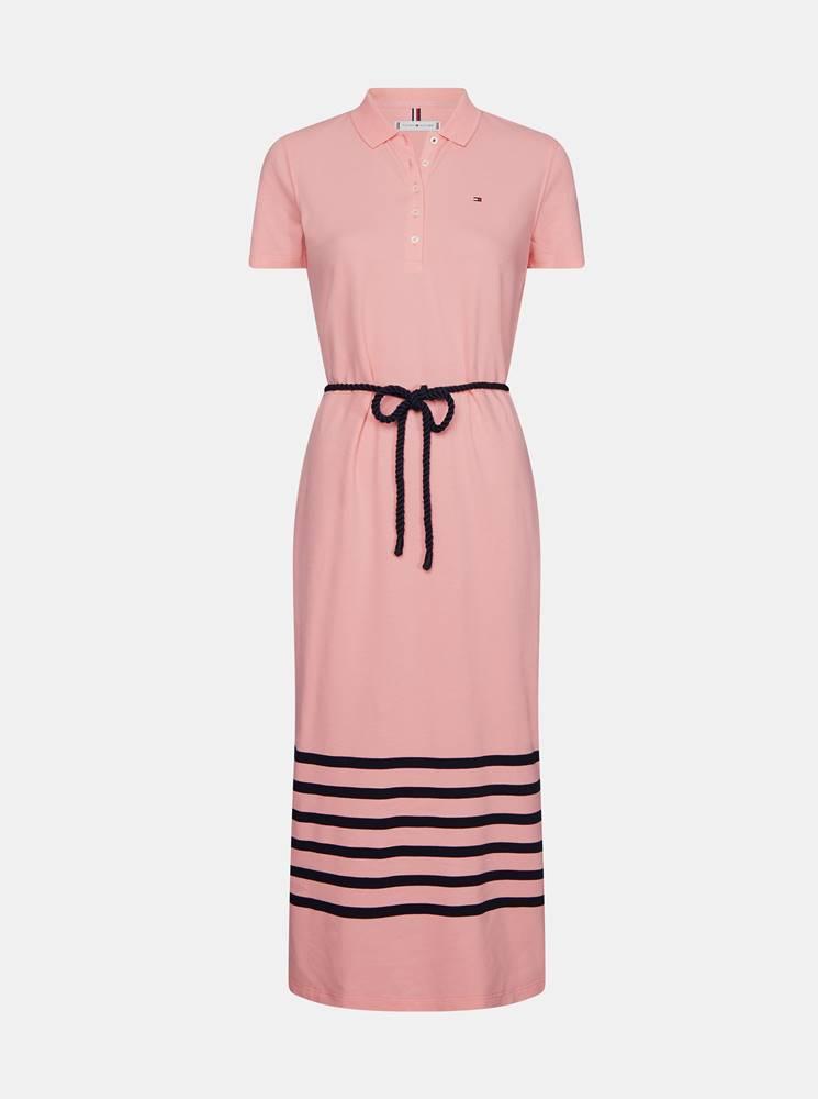 Tommy Hilfiger Ružové šaty Tommy Hilfiger
