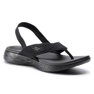 Sandále Skechers 16193 BBK Materiał tekstylny