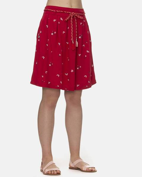 Červená sukňa Ragwear
