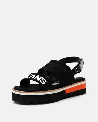Čierne na platforme Pepe jeans