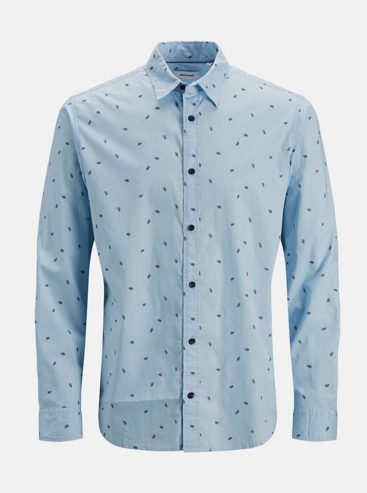 Jack & Jones Svetlomodrá vzorovaná košeľa Jack & Jones Madison