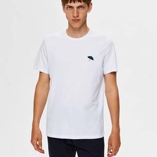 Biele tričko Selected Homme Astor