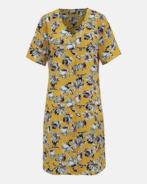 Horčicové šaty Jacqueline de Yong